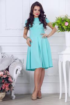 Платье отрезное по линии талии со складками Liora