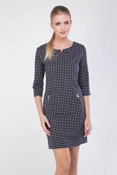 Платье в клеточку с карманами на молнии Marimay