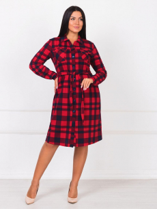 Новинка: платье рубашка в крупную клетку Brosko