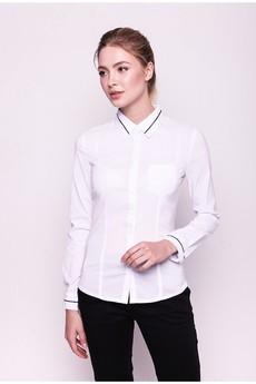 Белая рубашка с длинными рукавами Marimay