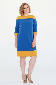 Синее патье с желтой полосой Angela Ricci