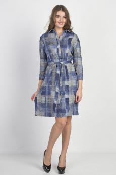 Платье М999/1 синий Bast